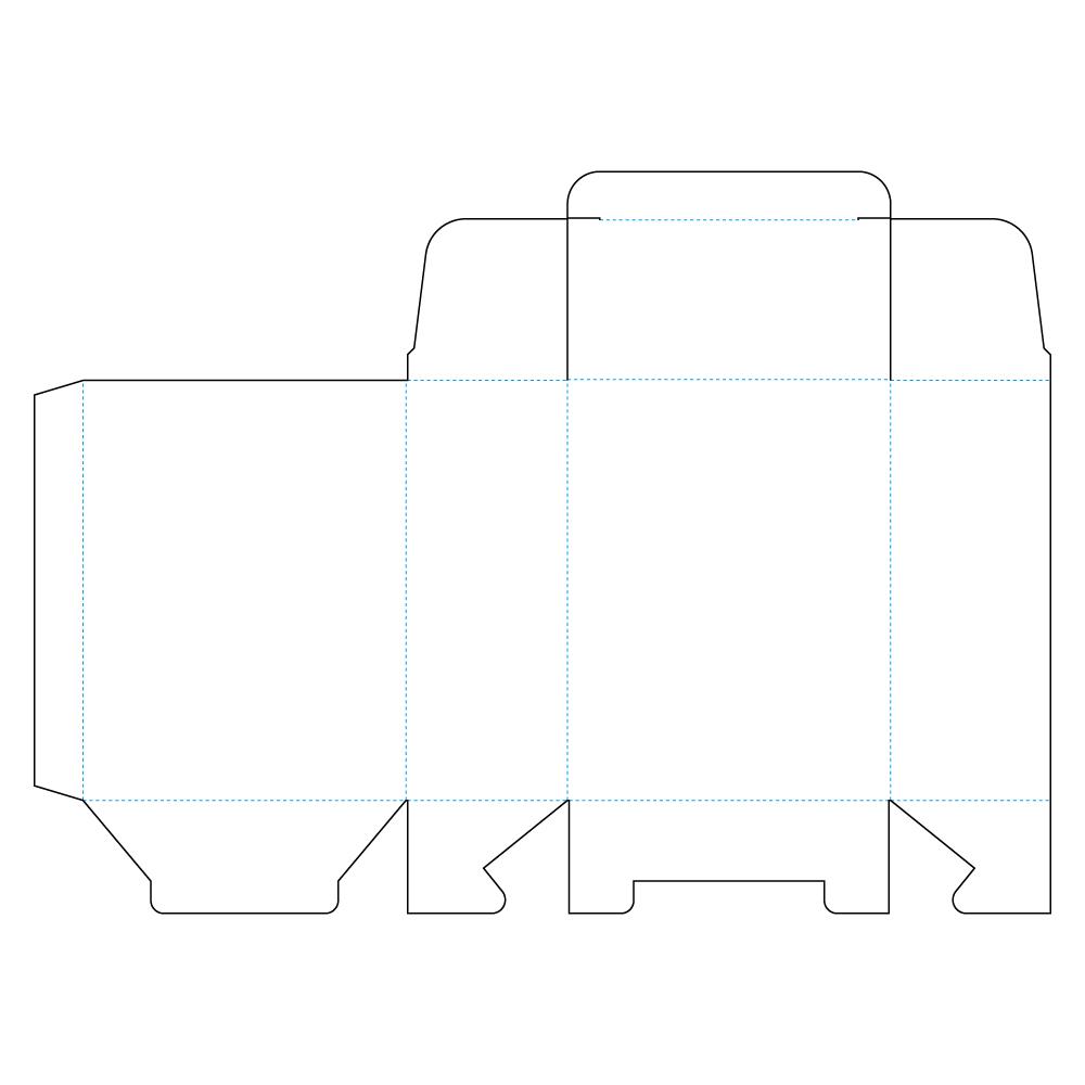 ジゴク式(アメリカンロック式)展開図